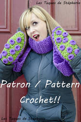 Tentacle Octopus Scarf Mittens by Snyki