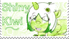 Shiny Kiwi Stamp by raincloudriot