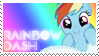 Rainbow Dash Stamp by raincloudriot