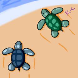 Sea Turtles by Lynnae-Madison