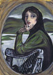 lady lavery in acrylics
