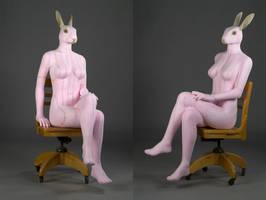 Rabbit Woman by DiamondDustTaxidermy
