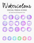 Watercolour Social Media Icons