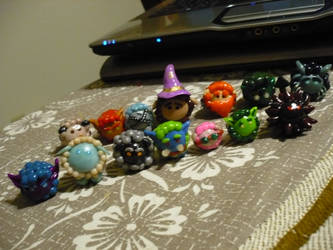 All my WoW Sheep Figurines by chibimemories