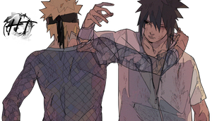 Naruto vs Sasuke (Final Battle) - Render