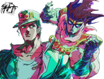 Jotaro and Star Platinum (JJBA Part 3) - Render
