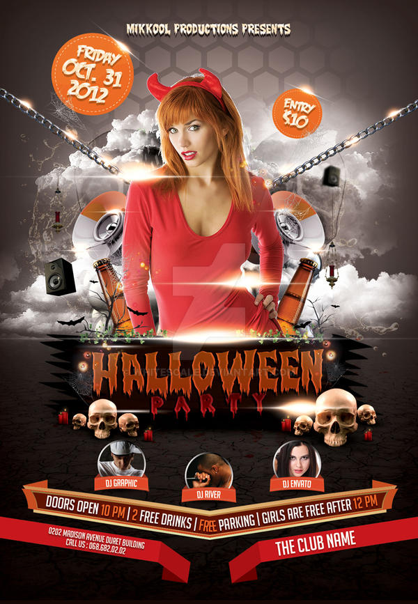 Halloween Party Flyer Template by whitescale on DeviantArt