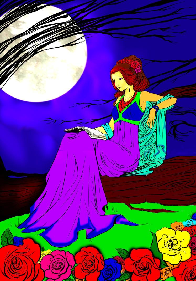 Moonlight reading by Kartik786