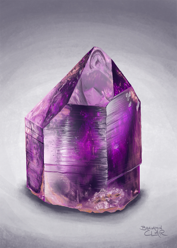 Amethyst Crystal Material Study by mighty5cent