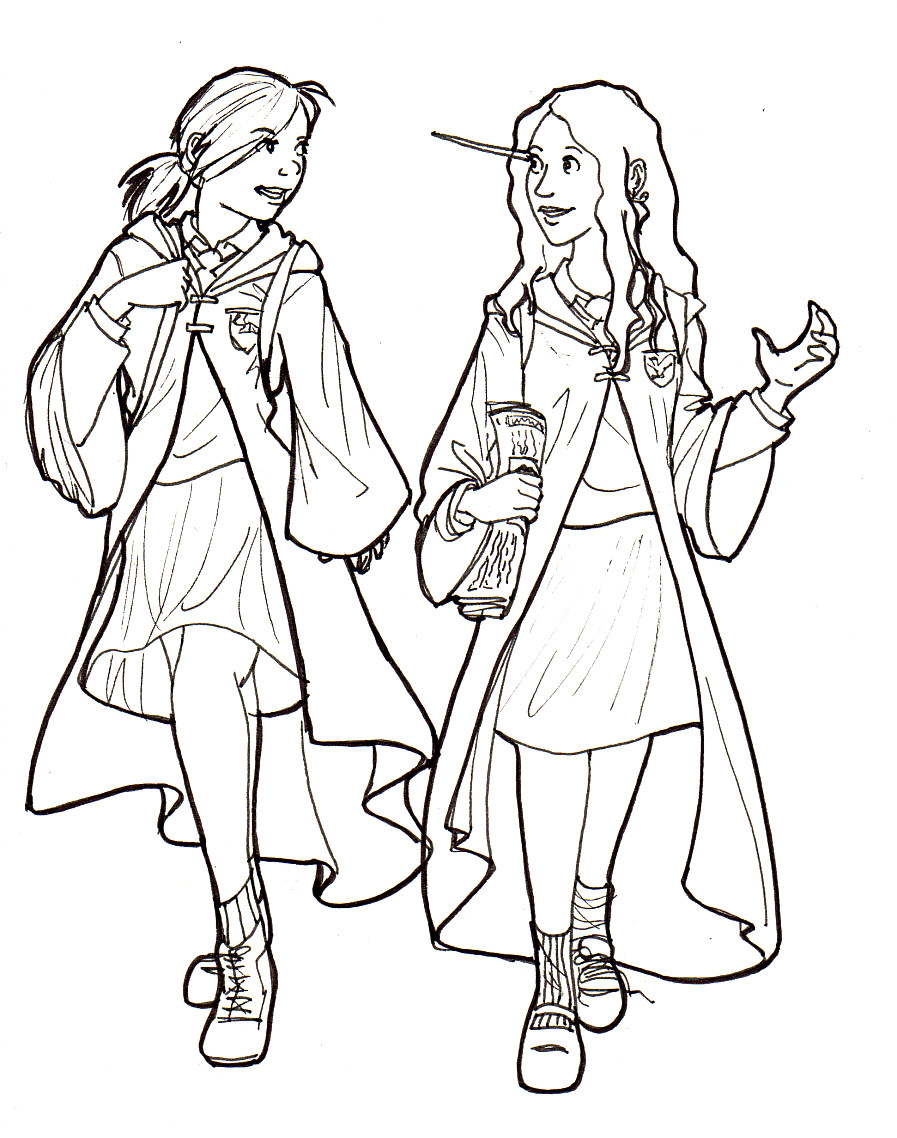 Ginny and Luna by TheFrenchBelphegor on DeviantArt