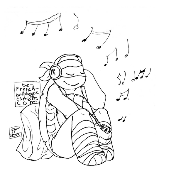 Music for a rainy day doodle by The-French-Belphegor