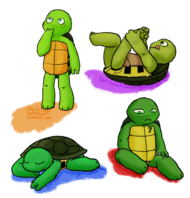 Baby turts by The-French-Belphegor