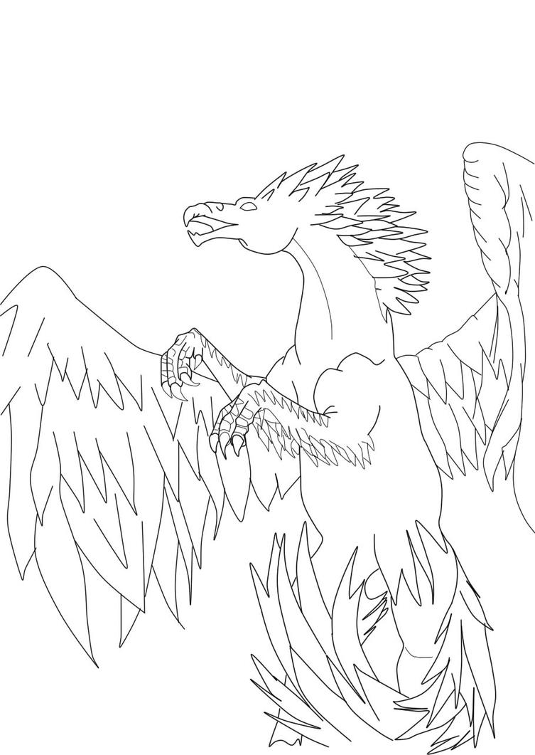 coloring pages buckbeak - photo#16