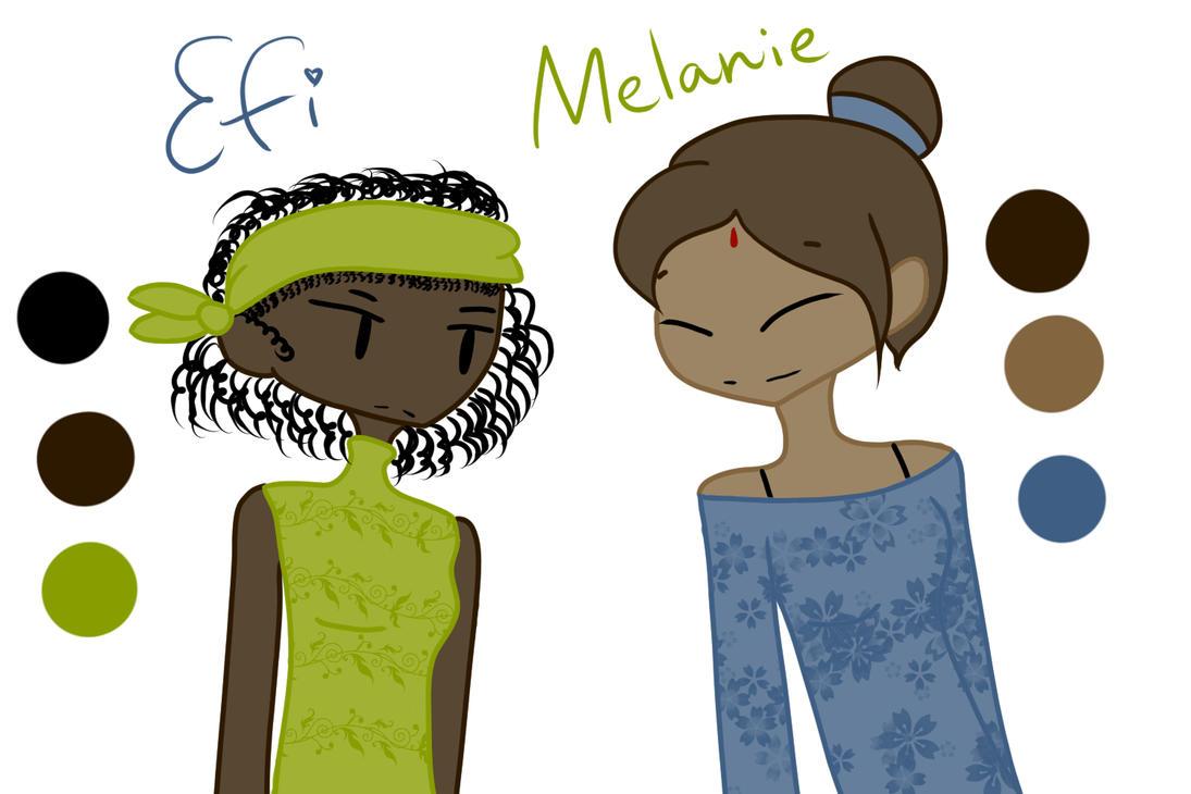 Efi and Melanie by Baymax2002