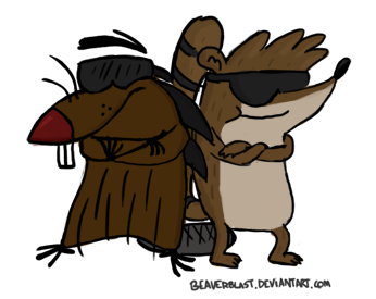 Rigby and Daggett by Beaverblast