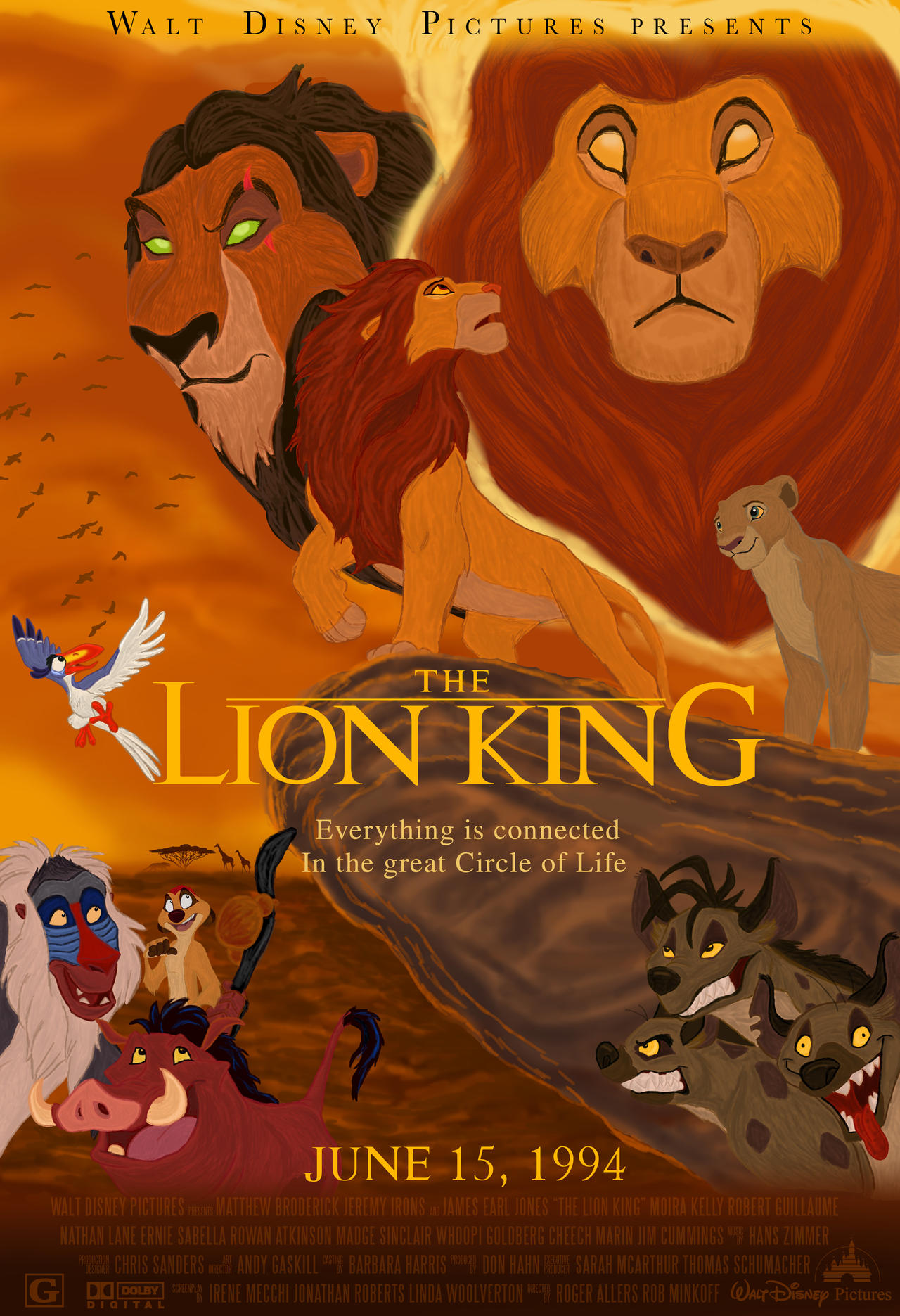 the lion king movie poster by jodranblue on deviantart