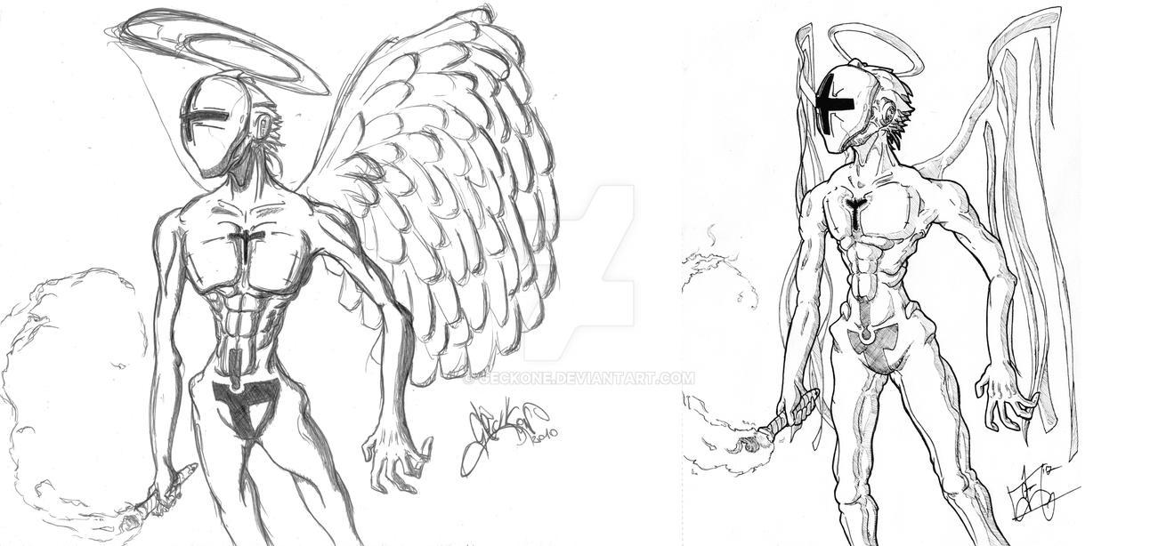 Redraw - Angel Warden by Geckone