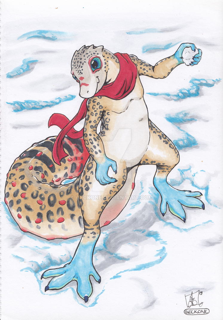 Winter Gecky by Geckone