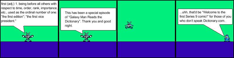 Series 9 Comic 1: Define First