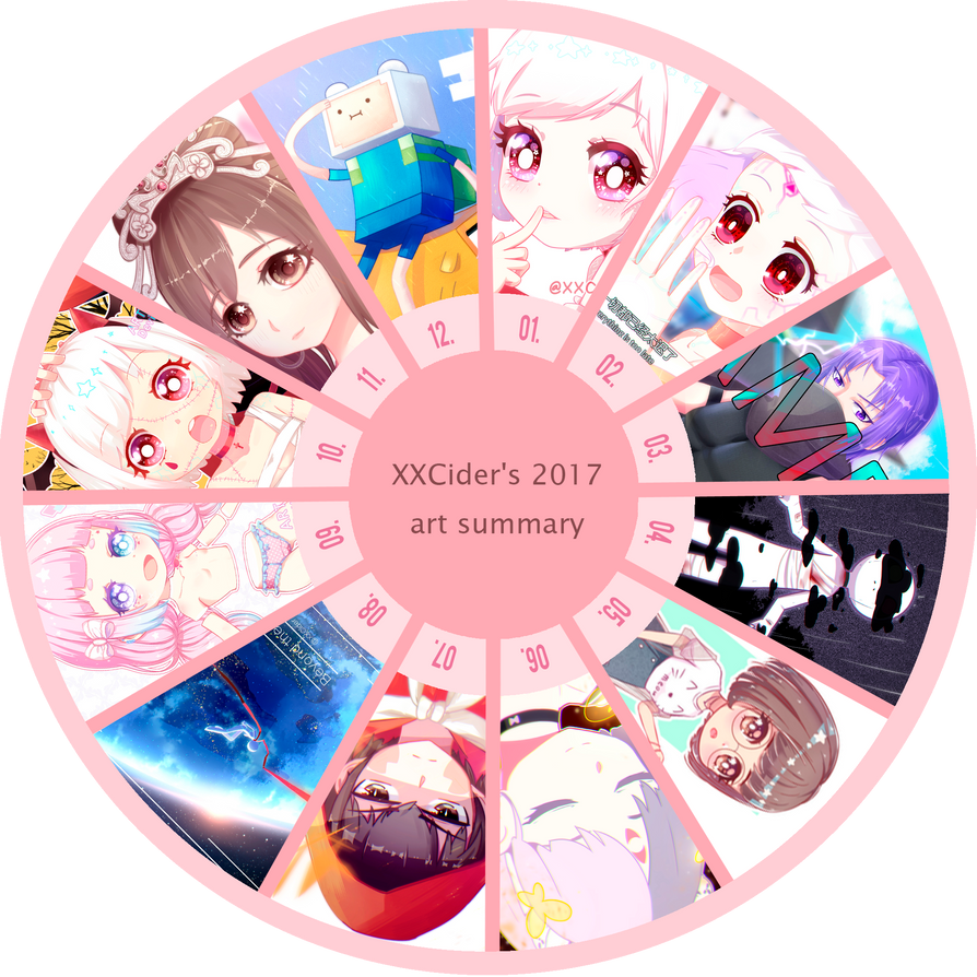 2017 art summary by XXCider