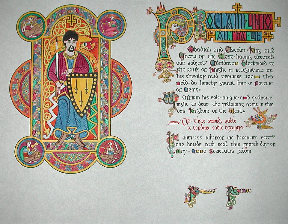 Knighting Scroll by gaelvin
