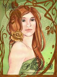 Art Nouveau Self Portrait