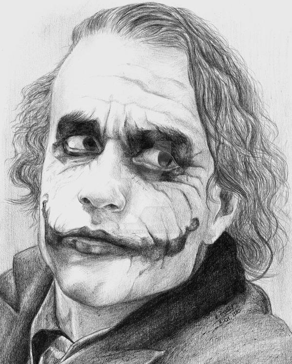 Heath Ledger as Joker by kamilafranke