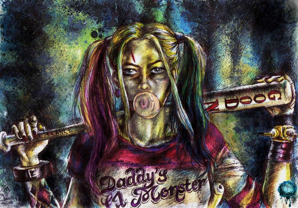 Margot Robbie as Harley Quinn by kamilafranke