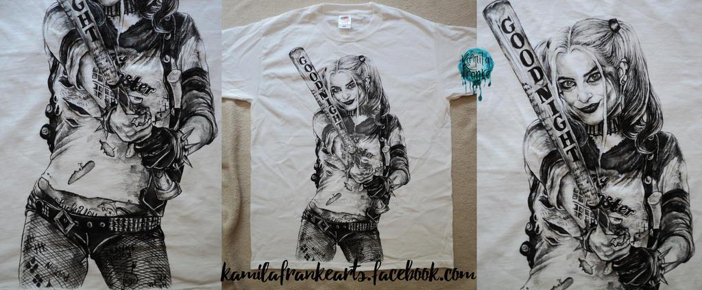Harley Quinn handmade t shirt by kamilafranke