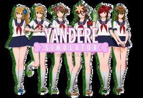 [MMD - Yandere] Gardening Club Note DL!! by AryaYX
