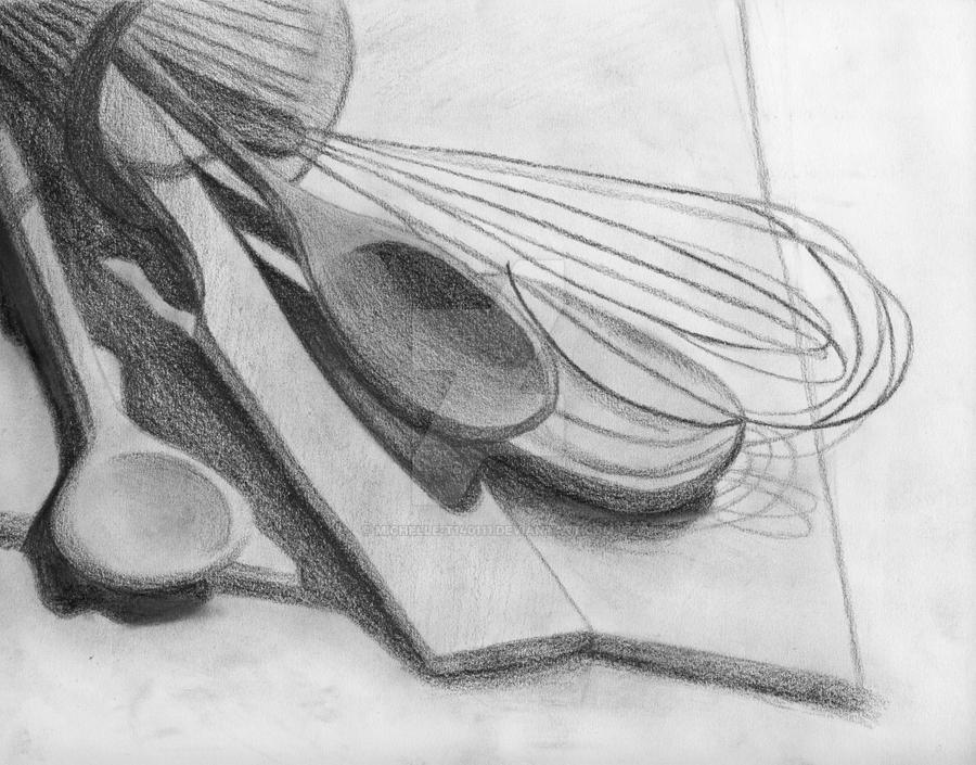 Drawing Of Kitchen Utensils By Michelle T140111
