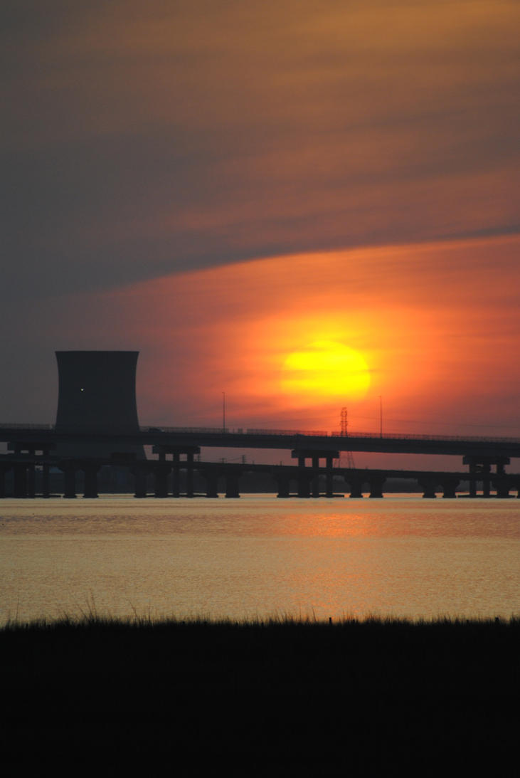 Industrail Land Sunset by KelseyMariePhoto