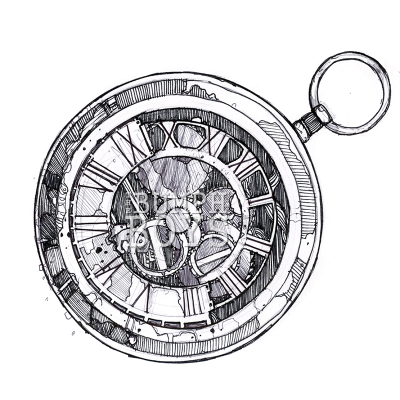 pocket watch tattoo 1 by the bumph boys on deviantart. Black Bedroom Furniture Sets. Home Design Ideas