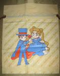 Sailor Moon Plastic drawstring Furoku Bag Serenity