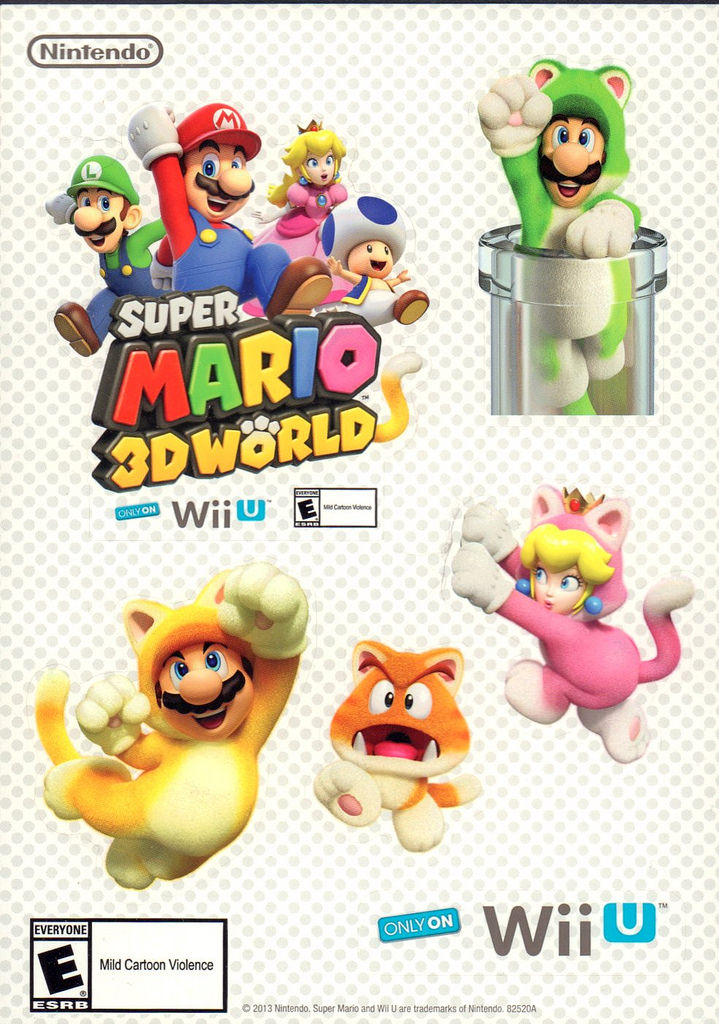 Mario 3d Land Promo Stickers by avaneshop