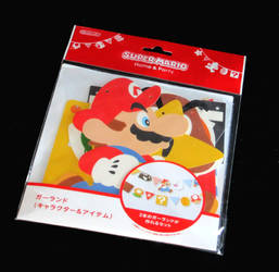 Mario paper party garland by avaneshop
