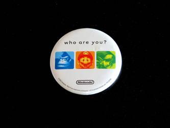 Nintendo 'who are you' promo button by avaneshop