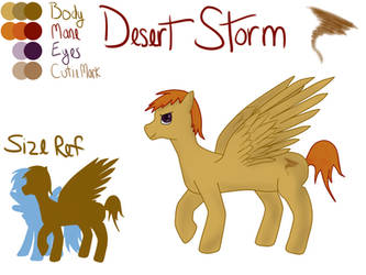 Desert Storm - Character Ref by princessteeny63