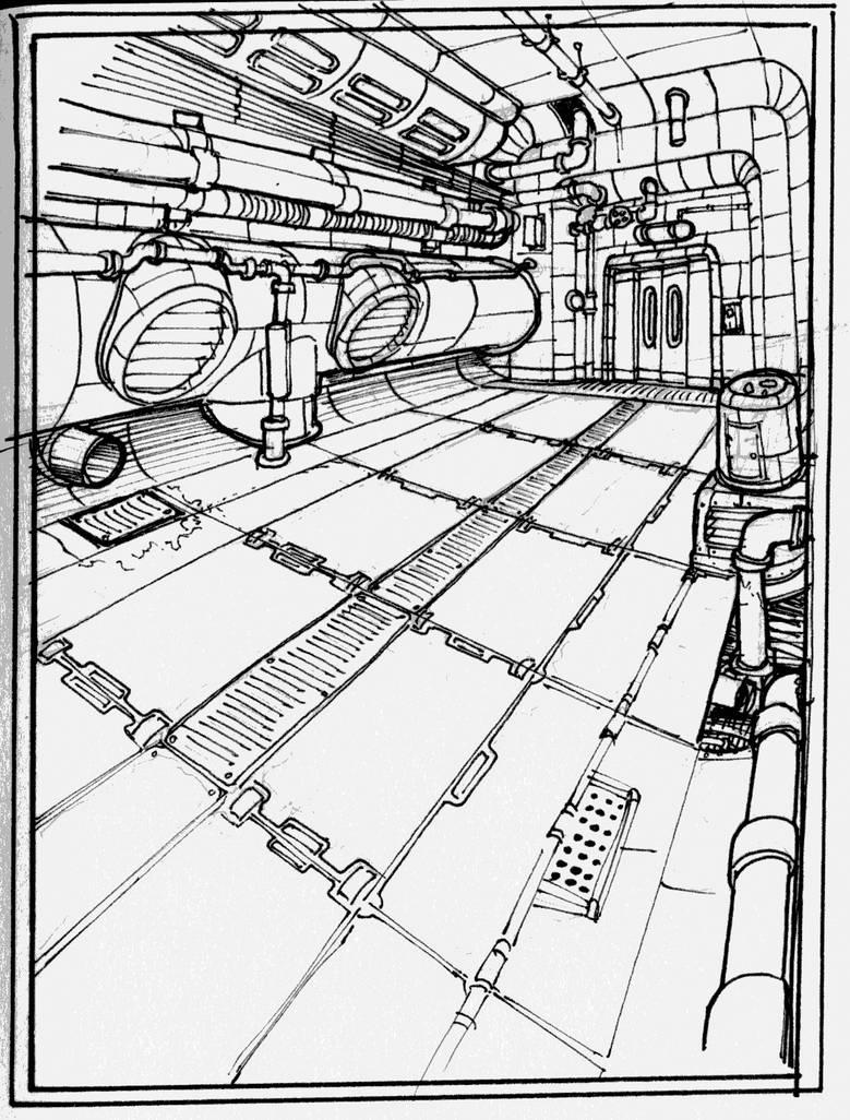 Hallway08 by robones