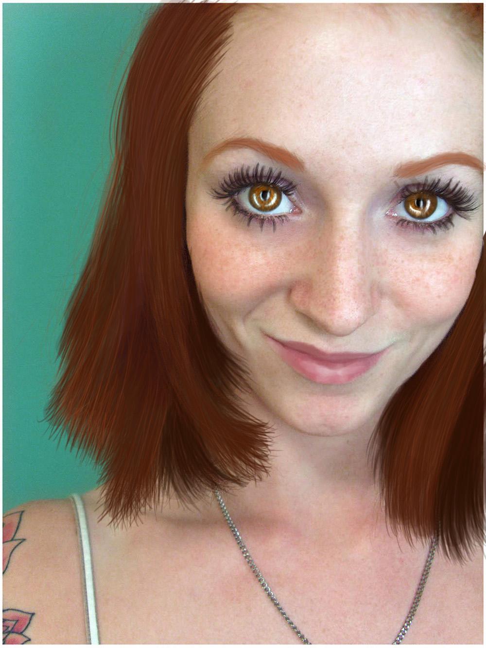 Freckles Painting by bleedangel