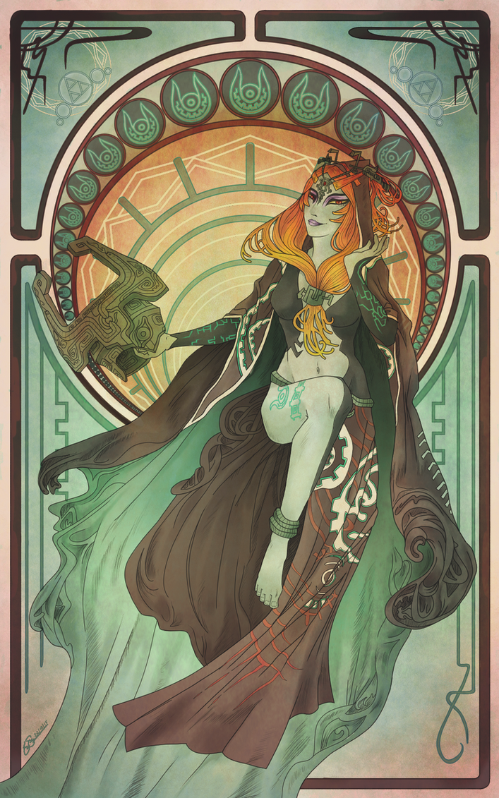 Midna Art Nouveau By Aeviann On Deviantart