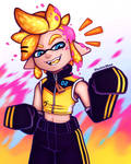 Inkling Len (Splatoon) - LenWeek2021 / Day 3 by ElectricShan