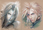Cloud and Sephiroth by kevinsbrush
