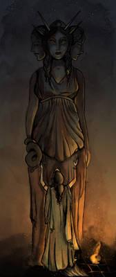 Priestess of Hecate by Jo-Freyr