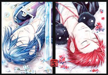 Dyptich_Sleep well, my king by RinaIzumo