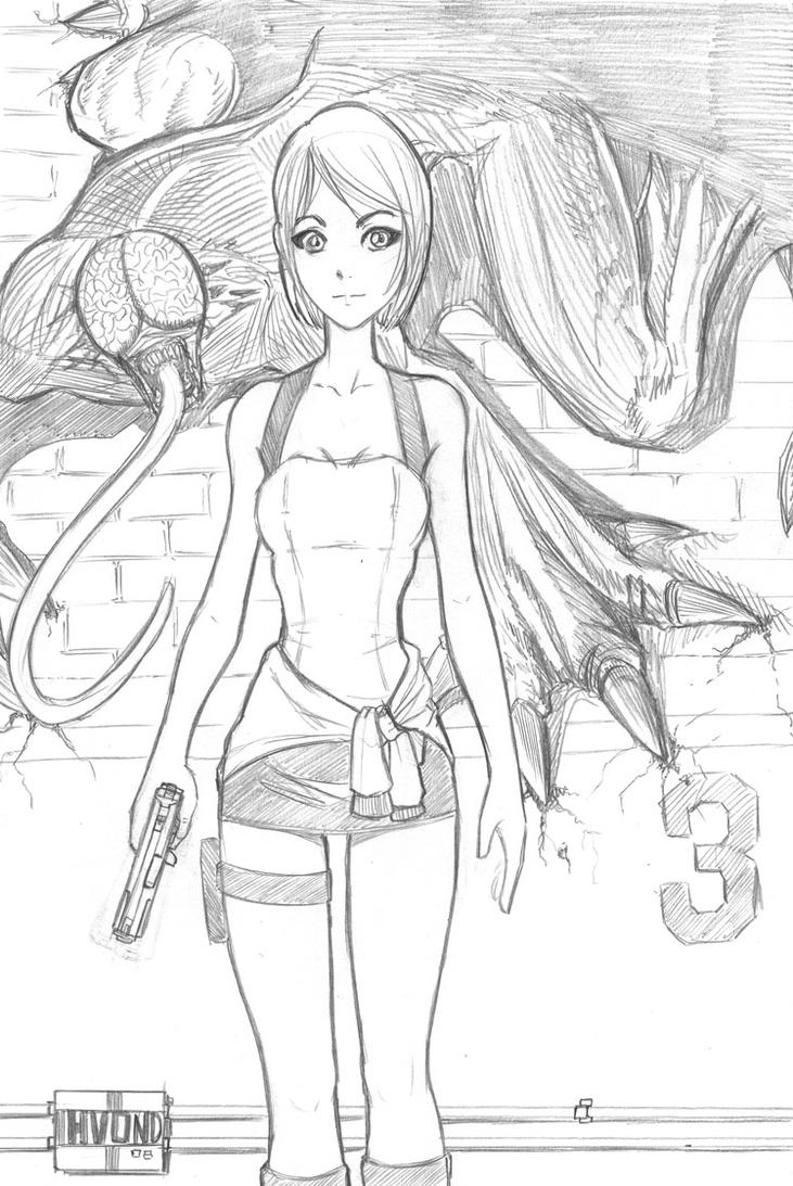 resident evil 5 jill valentine coloring pages | Jill Valentine by HvonD on DeviantArt