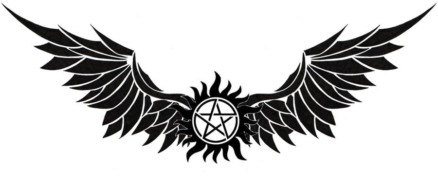 Anti-possession tattoo v2 by scyllaya