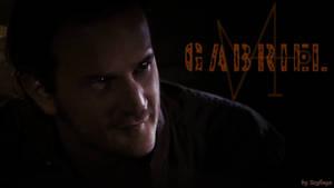Gabriel with sigil by scyllaya