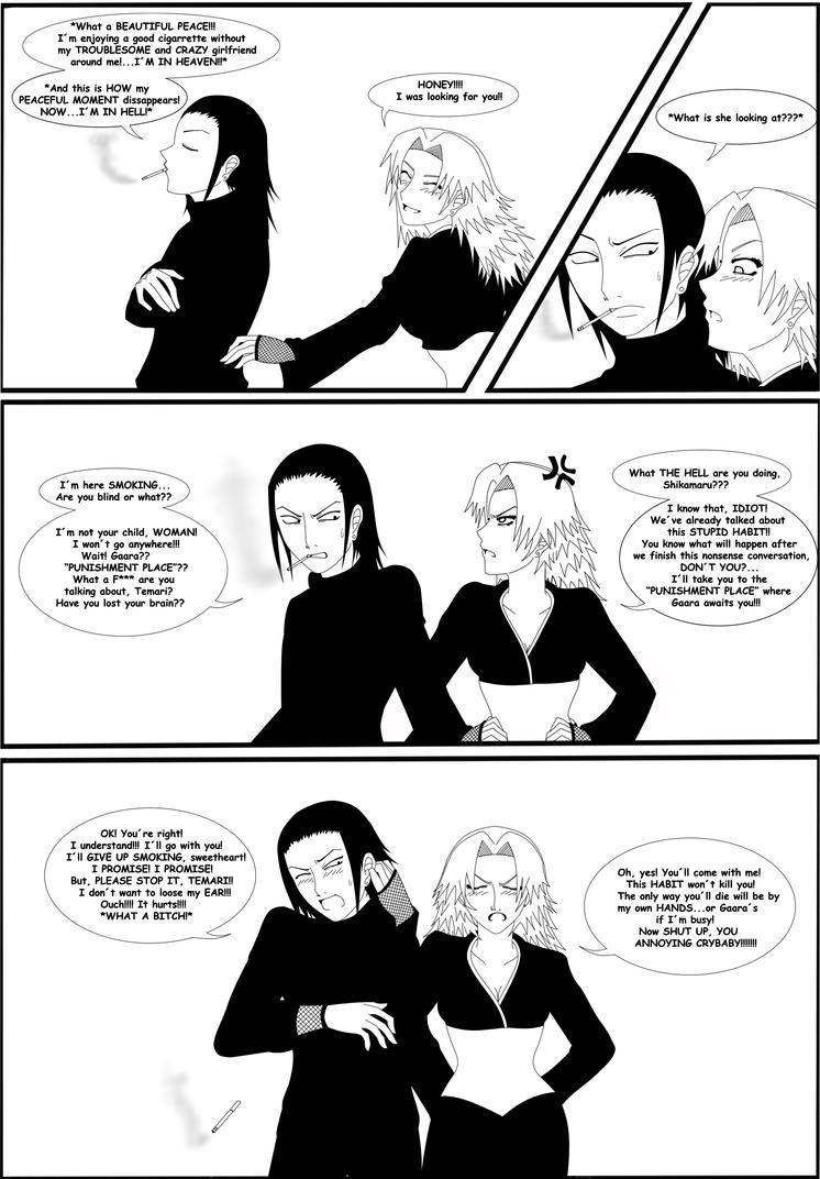 A Bad Habit...An Angry Temari by SympathyForShikamaru