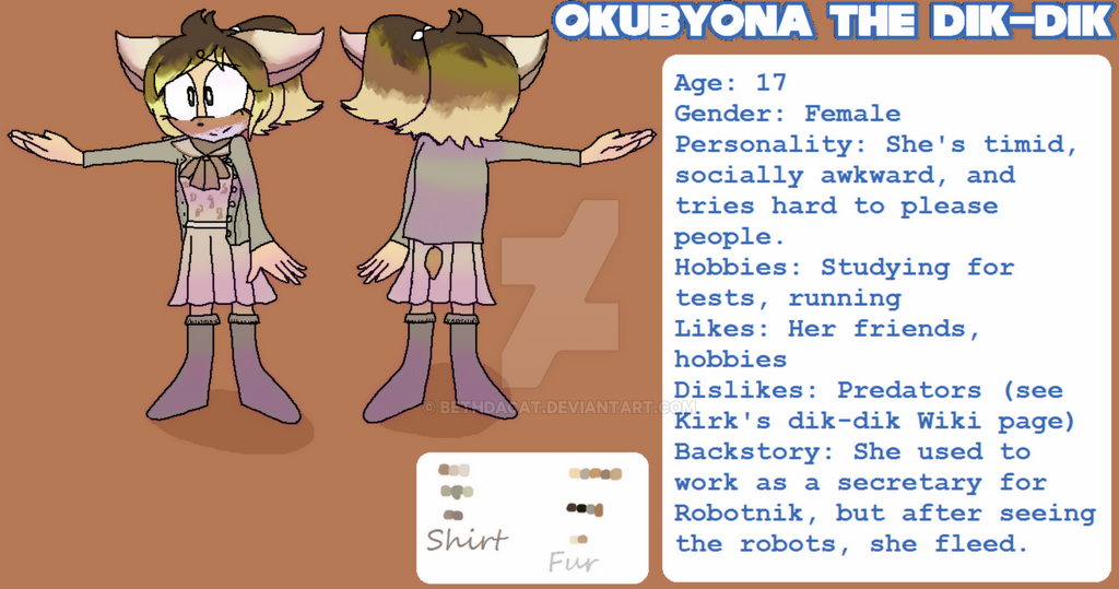 Okubyona the Dik-Dik by Bethdacat